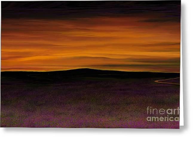 Lamdscape Greeting Cards - Sunset Sky Greeting Card by Rand Herron