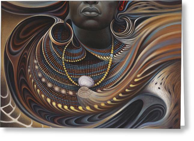 African Spirits I Greeting Card by Ricardo Chavez-Mendez