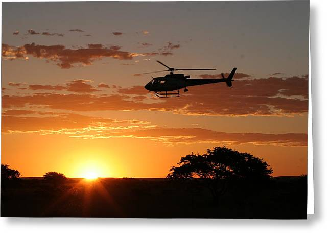 Northern Africa Greeting Cards - African Sunset II Greeting Card by Paul Job