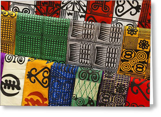 West Africa Greeting Cards - African Textiles Greeting Card by Michele Burgess