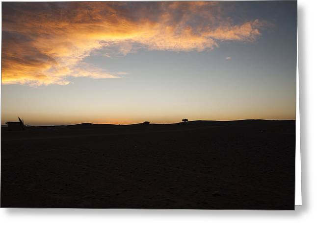 Africa's Sunset Greeting Card by Marleen Hoftijzer