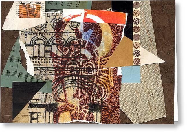 Everett Spruill Mixed Media Greeting Cards - Afro Collage B - 2012 Greeting Card by Everett Spruill