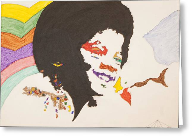 Mj Paintings Greeting Cards - Afro Michael Jackson Greeting Card by Stormm Bradshaw