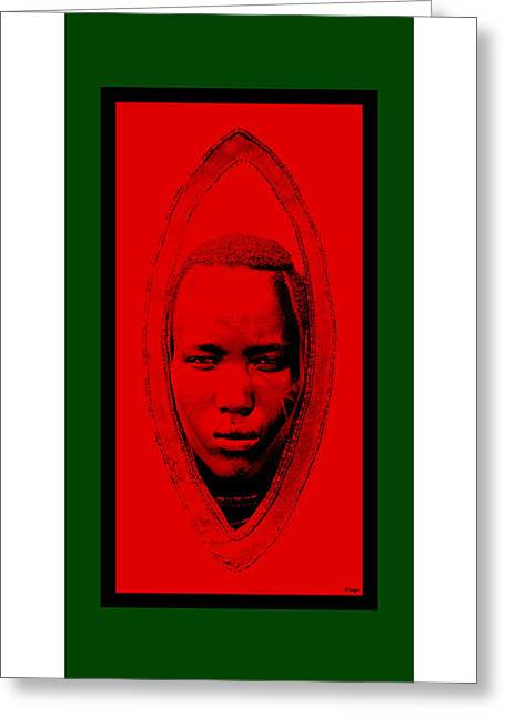 African-americans Greeting Cards - Afro Warrior 1 Greeting Card by Raymond Vango