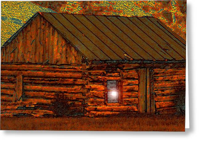 Old Cabins Greeting Cards - After a hard days work Greeting Card by David Lee Thompson
