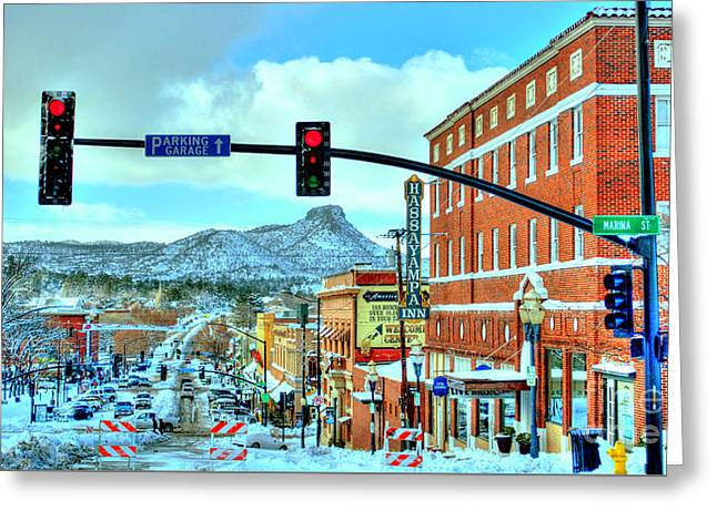 Snowstorm Framed Prints Greeting Cards - After A Snowstorm In Prescott Arizona Greeting Card by K D Graves