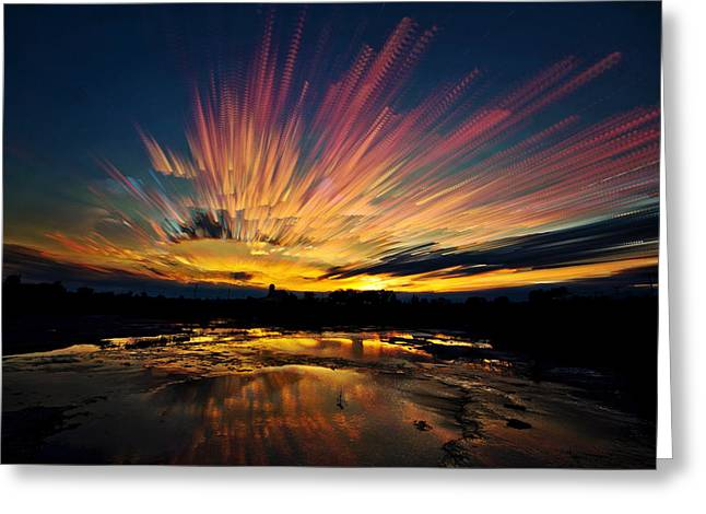 Barn Digital Greeting Cards - After Burn Greeting Card by Matt Molloy