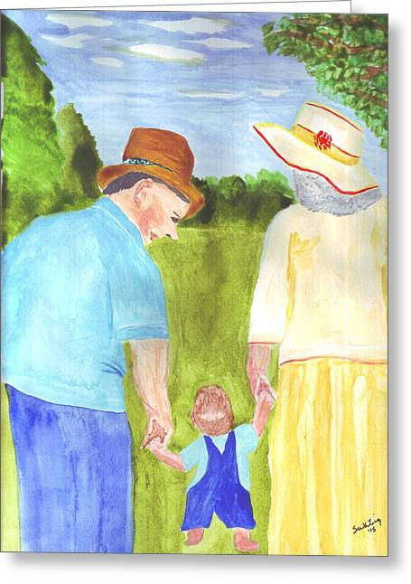 Sunday Stroll Greeting Cards - After Church Greeting Card by Sandra Whiting