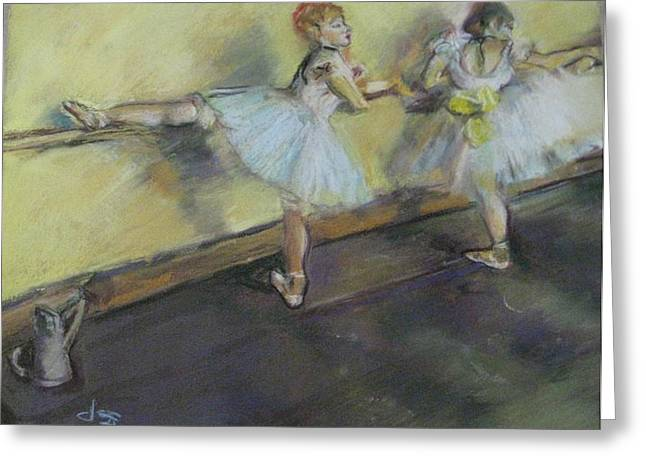 Ballet Bar Greeting Cards - After Degas 2 Greeting Card by Dorothy Siclare