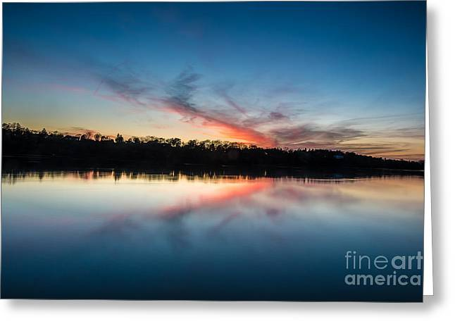 Lewiston Greeting Cards - After dusk Greeting Card by Chuck Alaimo