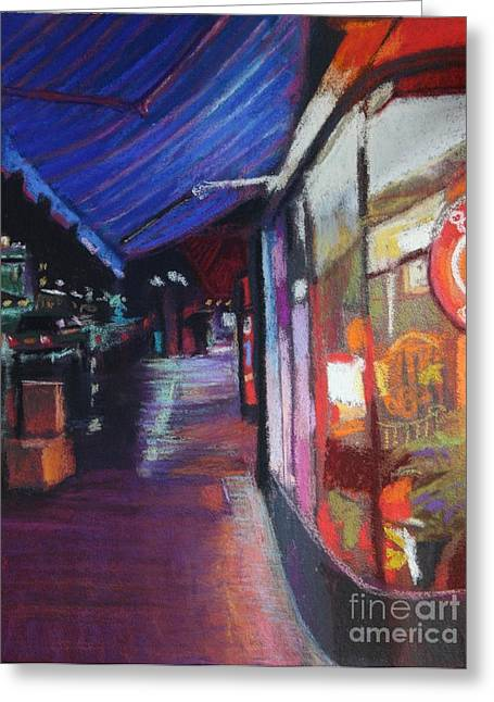 Mj Paintings Greeting Cards - After Hours Greeting Card by Beth Lowell