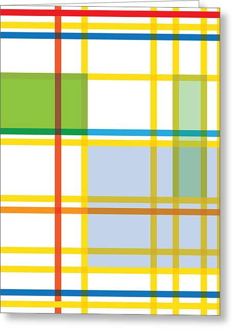 Gary Grayson Greeting Cards - After Mondrian Greeting Card by Gary Grayson
