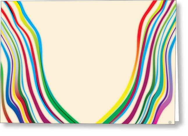 Layers Greeting Cards - After Morris Louis 2 Greeting Card by Gary Grayson