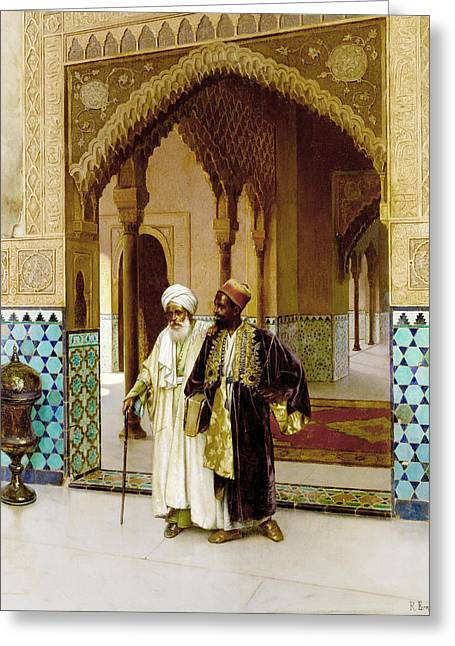 Rudolf Greeting Cards - After Prayers Greeting Card by Rudolf Ernst
