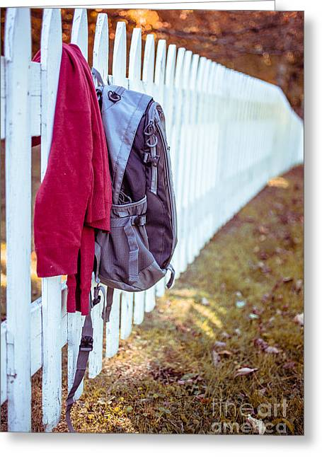 White Picket Fence Greeting Cards - After School Greeting Card by Edward Fielding