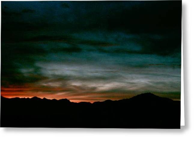 Mystic Art Greeting Cards - After Sunset  Greeting Card by William McCoy
