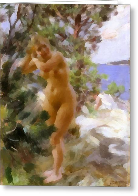 After The Bath 2 Greeting Card by Anders Zorn