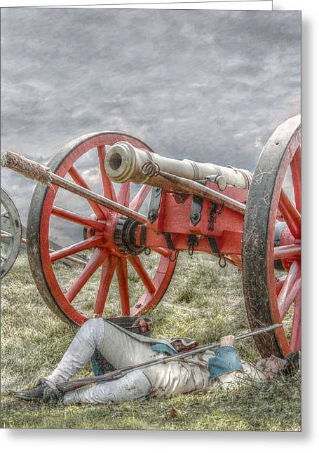 Revolutionary War Mixed Media Greeting Cards - After the Battle Greeting Card by Randy Steele