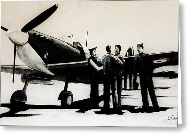 Spitfire Mixed Media Greeting Cards - After the Battle Greeting Card by Sean Roderick