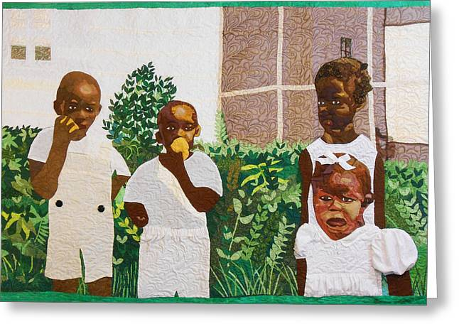 People Tapestries - Textiles Greeting Cards - After The Funeral-1943 Greeting Card by Aisha Lumumba