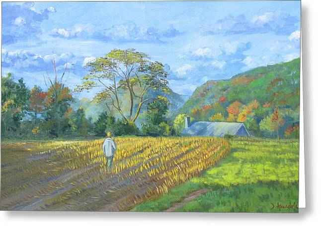 Realism Greeting Cards - After the harvest Greeting Card by Dominique Amendola