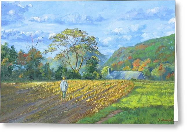 After The Harvest Greeting Card by Dominique Amendola