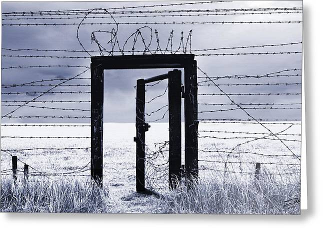 Oppression Greeting Cards - After the Iron Curtain Greeting Card by Schwartz