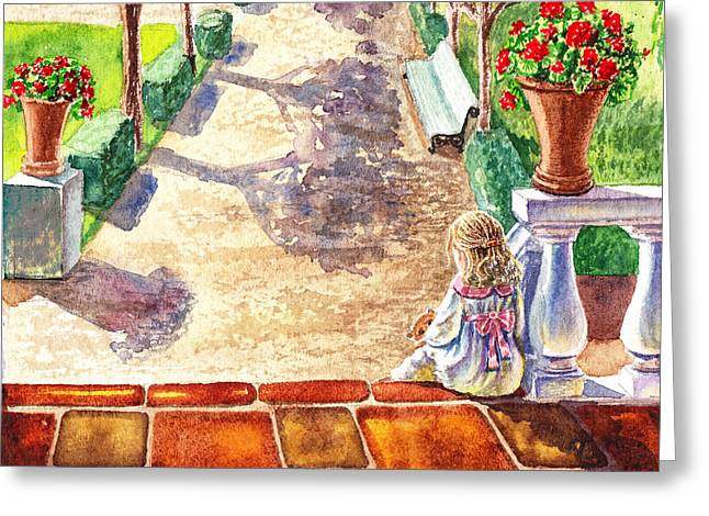 After The Nap Greeting Card by Irina Sztukowski