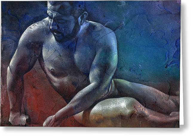 Male Mixed Media Greeting Cards - After the Pain 1 Greeting Card by Chris  Lopez