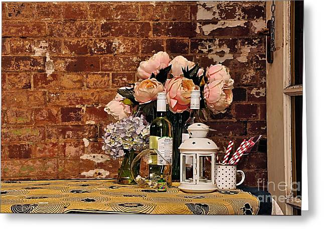 Old Door Greeting Cards - After the Party Greeting Card by Kaye Menner