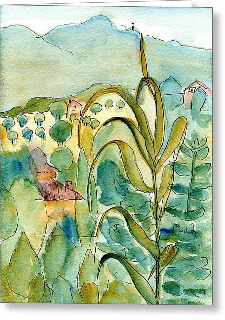 Tuscan Hills Drawings Greeting Cards - After the Rain Greeting Card by Anita Bell
