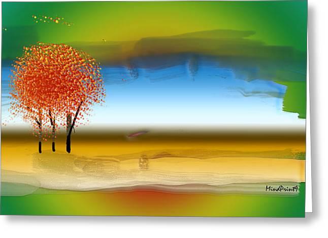Digita Art Greeting Cards - After The Rain Greeting Card by Asok Mukhopadhyay