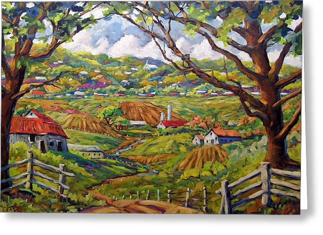 After The Rain By Prankearts Greeting Card by Richard T Pranke