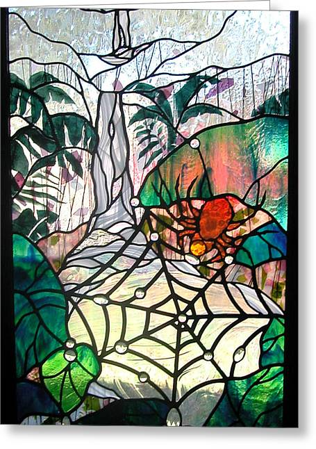 Dew Glass Art Greeting Cards - After the Rain Greeting Card by Christine Alexander