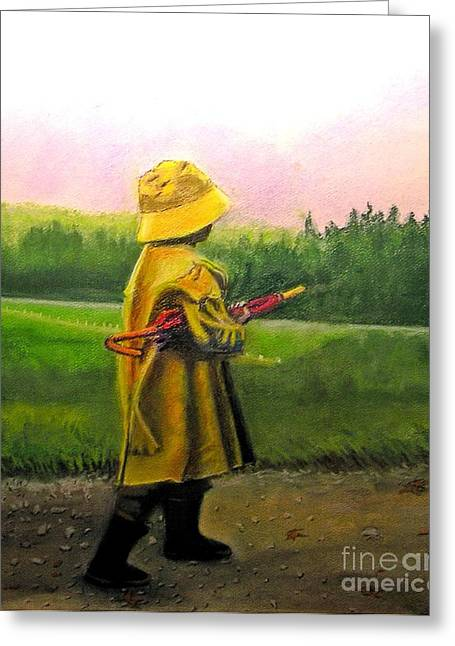 After The Rain Greeting Card by Lamarr Kramer