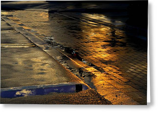 Puddle Greeting Cards - After The Rain Greeting Card by Laura  Fasulo