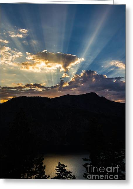 Angora Lakes Greeting Cards - After The Rain Greeting Card by Mitch Shindelbower
