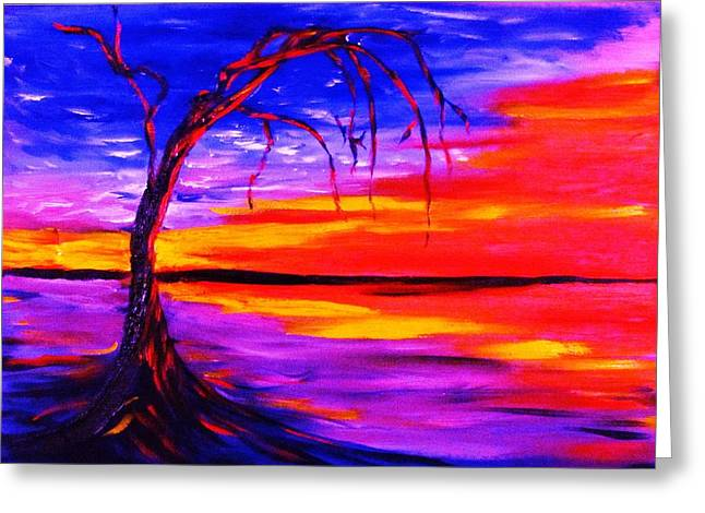 Gnarly Paintings Greeting Cards - After the Rain Greeting Card by Sheri Marean