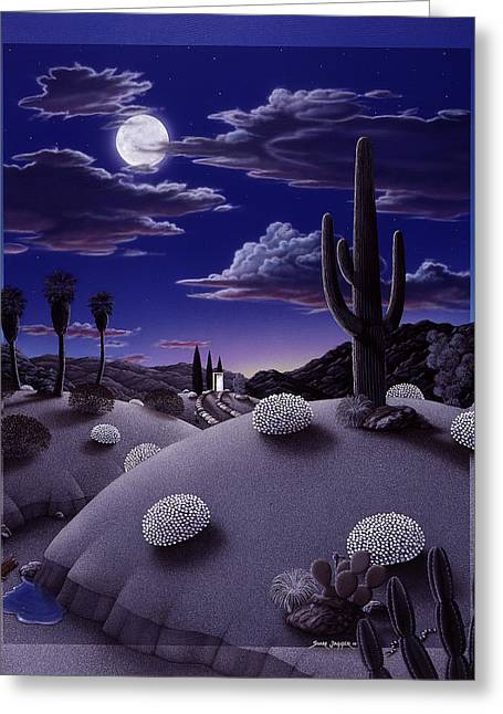 Desert Paintings Greeting Cards - After the Rain Greeting Card by Snake Jagger