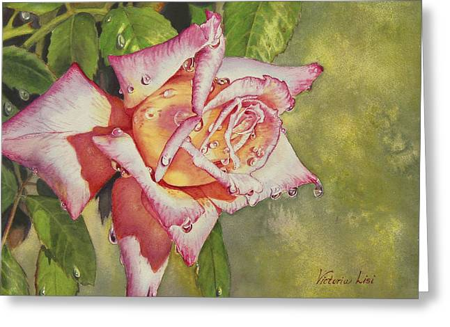 Dewdrops Paintings Greeting Cards - After the Rain Greeting Card by Victoria Lisi