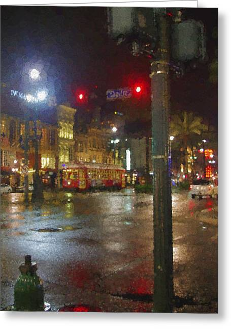 Canal Street Line Greeting Cards - After the Rain Greeting Card by WickedRefined- ND