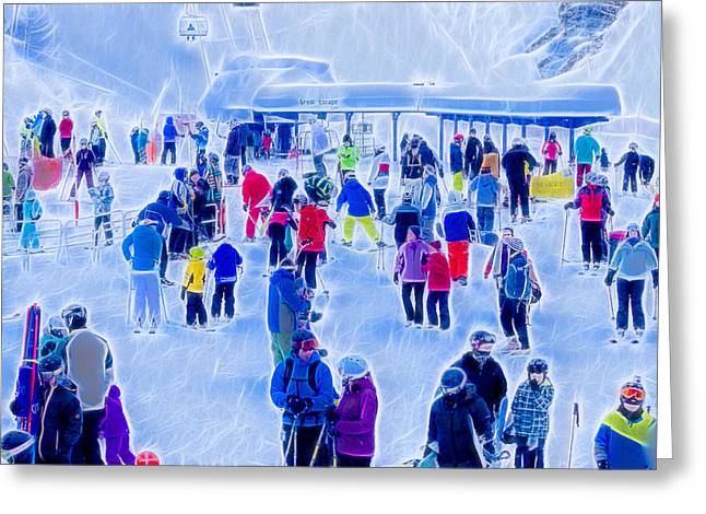 Schweitzer Greeting Cards - After the Run Greeting Card by Albert Seger