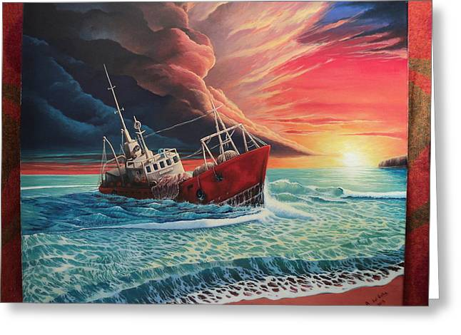 Sea View Greeting Cards - After the storm Greeting Card by Alejandro Del Valle