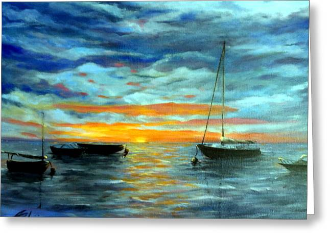 Masts Greeting Cards - After The Storm Greeting Card by Anne Barberi