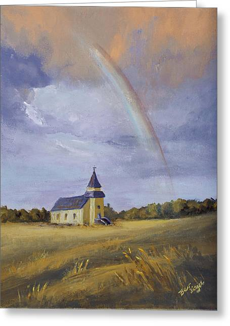 Prairie Sunset Landscape Art Print Greeting Cards - After The Storm Greeting Card by Bev Finger