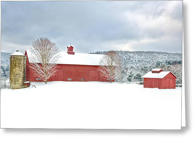 Red Barn Greeting Cards - After the Storm Greeting Card by Bill  Wakeley