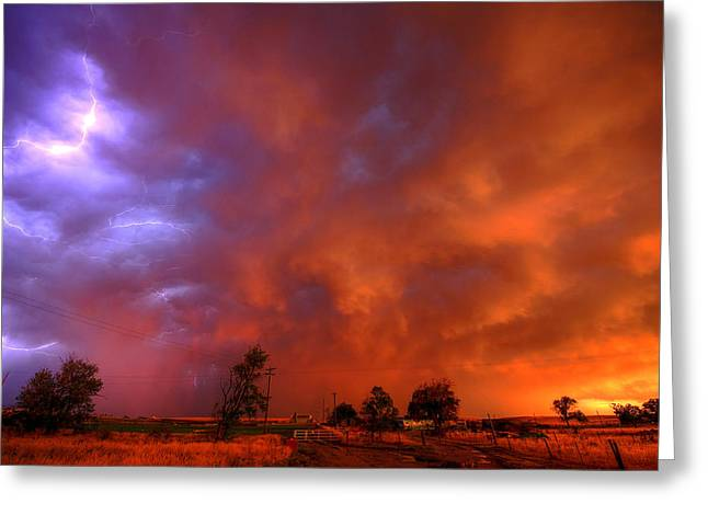 Thunderstorm Greeting Cards - After The Storm Greeting Card by Chris  Allington
