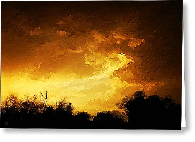 Coppery Greeting Cards - After The Storm Greeting Card by Cj Grant