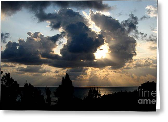Sun Breaking Through Clouds Photographs Greeting Cards - After the Storm Greeting Card by John Chatterley