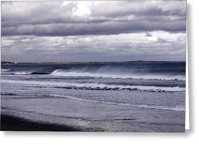 Nantasket Beach Greeting Cards - After the Storm Greeting Card by Nancy A Santry